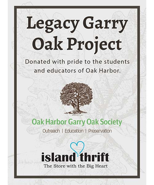 Legacy Garry Oak Project - Donating Garry Oak Books to All Local Schools