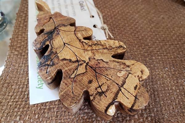 Garry Oak Carved Leaf