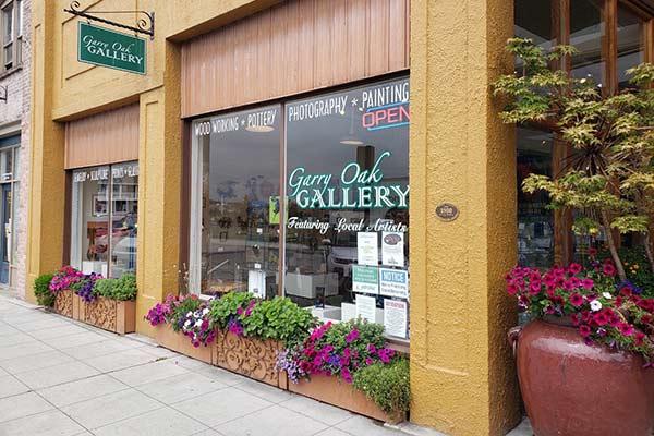 Exterior of the Garry Oak Gallery in Downtown Oak Harbor, WA